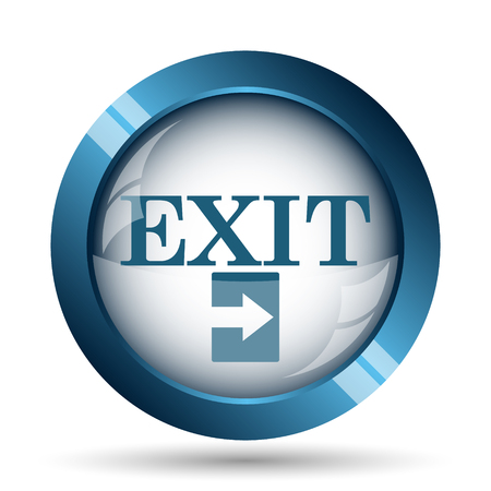 icons business: Exit icon. Internet button on white background.