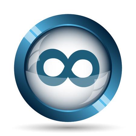 signo infinito: Icono de signo infinito. Botón de internet sobre fondo blanco.