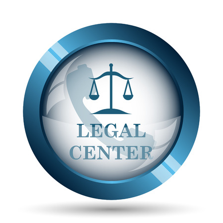 blue icons: Legal center icon. Internet button on white background.