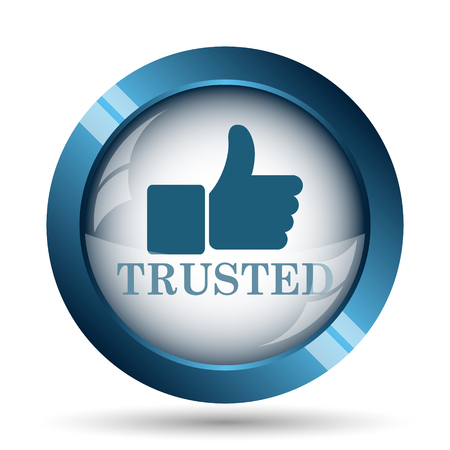 trust concept: Trusted icon. Internet button on white background.