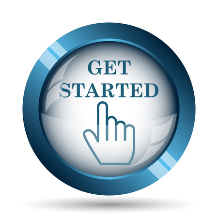Get started icon. Internet button on white background. Banco de Imagens - 47942259