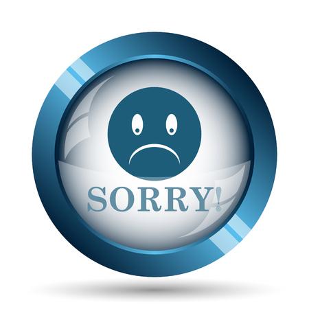 sorry: Sorry icon. Internet button on white background. Stock Photo