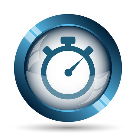 Timer icon. Internet button on white background. Stock Photo