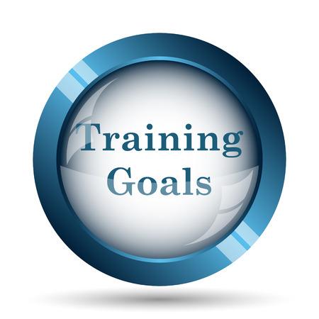 group icon: Training goals icon. Internet button on white background.