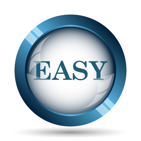 Easy icon. Internet button on white background. Stock Photo