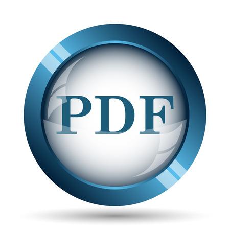 folder icons: PDF icon. Internet button on white background.
