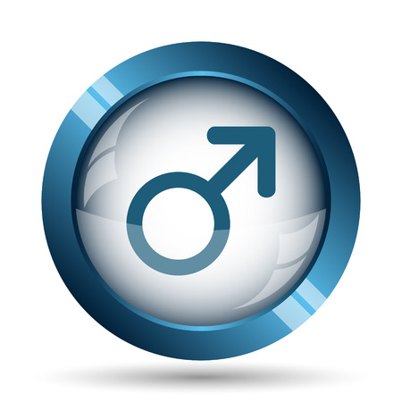 large group of object: Male sign icon. Internet button on white background. Stock Photo
