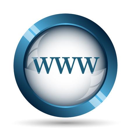 WWW icon. Internet button on white background. Фото со стока