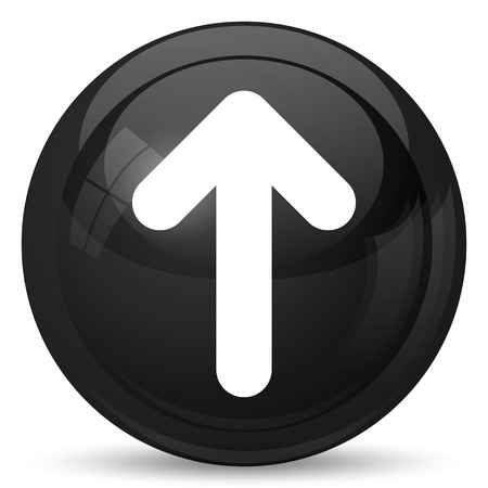 control tools: Up arrow icon. Internet button on white background.