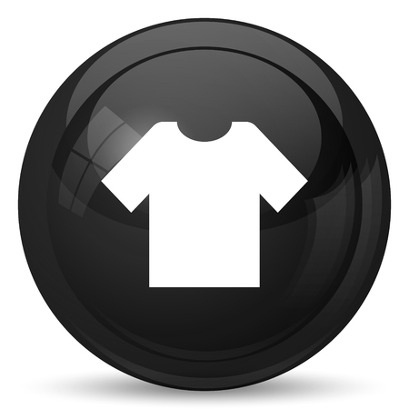 t short: T-short icon. Internet button on white background. Stock Photo