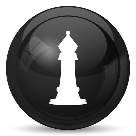 capturing: Chess icon. Internet button on white background.