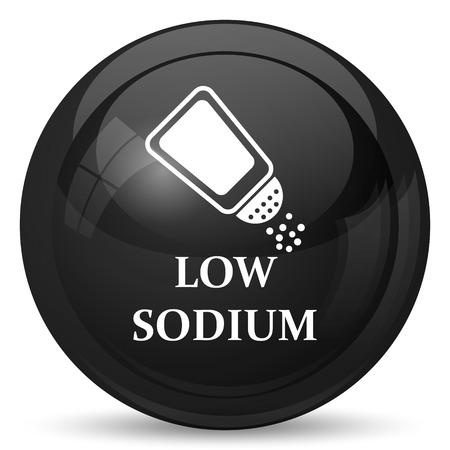 si�o: Low sodium icon. Internet button on white background.