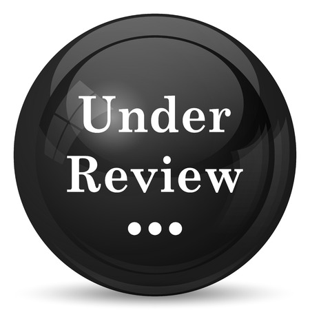 canceled: Under review icon. Internet button on white background.