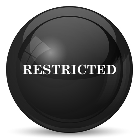 restricted icon: Restricted icon. Internet button on white background. Stock Photo