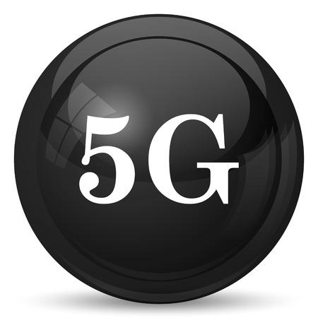 tv tower: 5G icon. Internet button on white background. Stock Photo