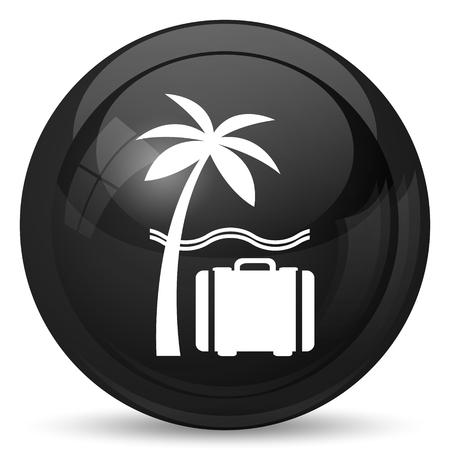Travel icon. Internet button on white background. Stock Photo