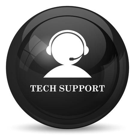 centro de computo: Icono de soporte t�cnico. Bot�n de internet sobre fondo blanco.