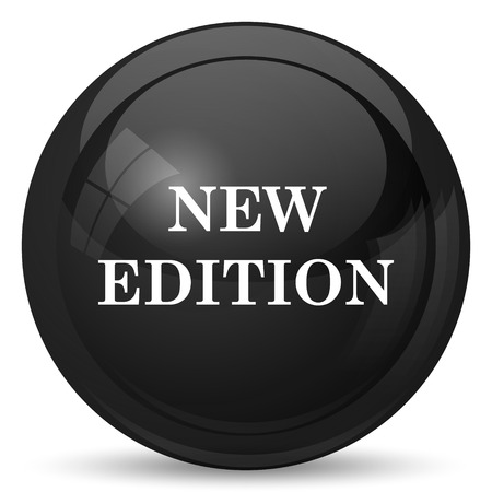 new and improved: New edition icon. Internet button on white background.