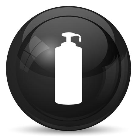 moisturizer: Soap icon. Internet button on white background.