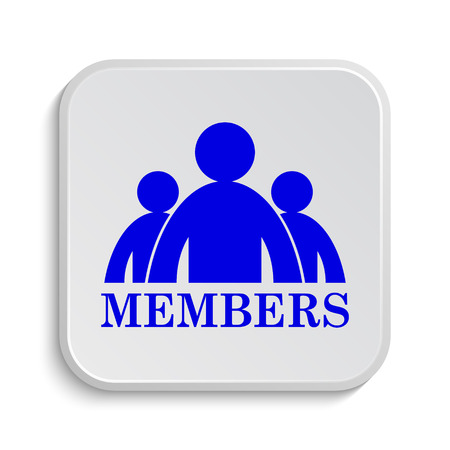 members: Members icon. Internet button on white background. Stock Photo