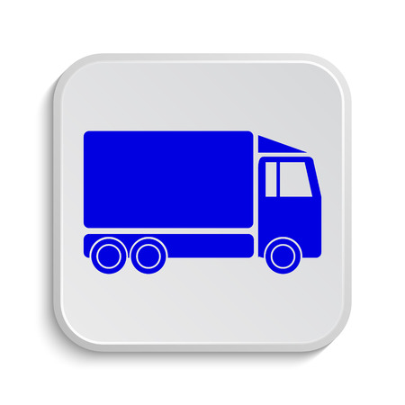 removal van: Truck icon. Internet button on white background.