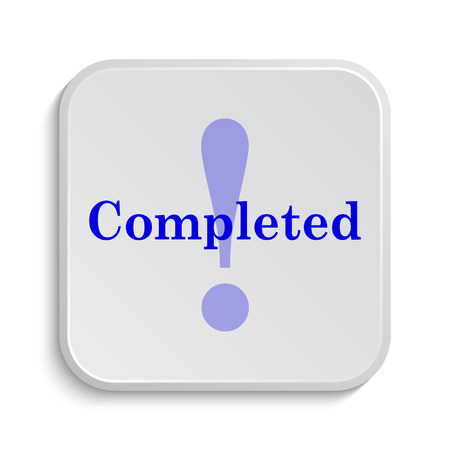 reviewed: Completed icon. Internet button on white background.