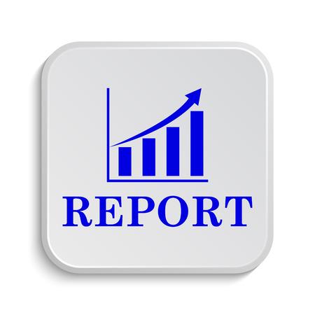 report icon: Report icon. Internet button on white background.
