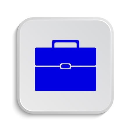 cases: Briefcase icon. Internet button on white background.