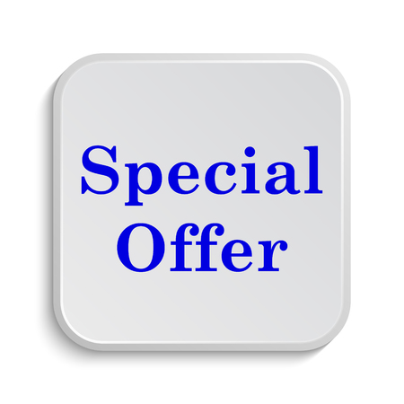 bargaining: Special offer icon. Internet button on white background. Stock Photo