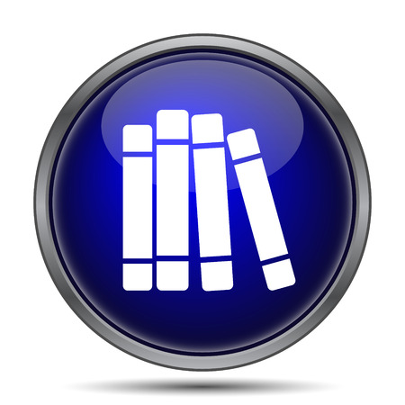 book shelves: Books library icon. Internet button on white background.