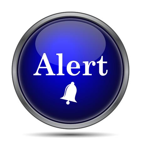 hazardous sign: Alert icon. Internet button on white background.