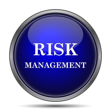 management concept: Risk management icon. Internet button on white background.