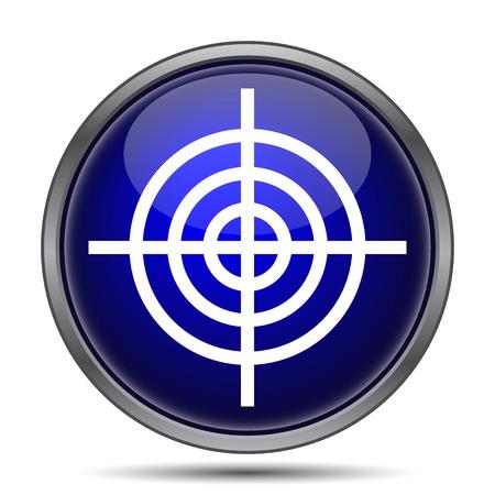 shoot: Target icon. Internet button on white background.