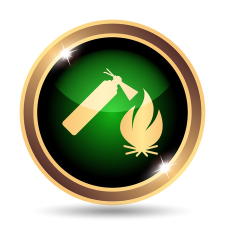 firealarm: Fire icon. Internet button on white background.