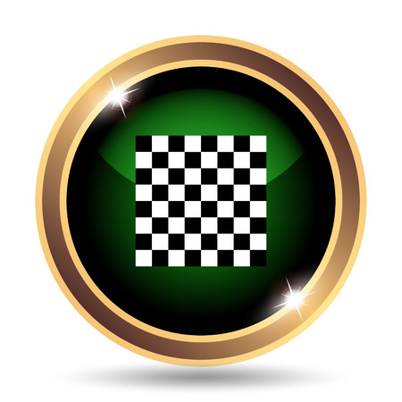 pursuit: Finish flag icon. Internet button on white background.