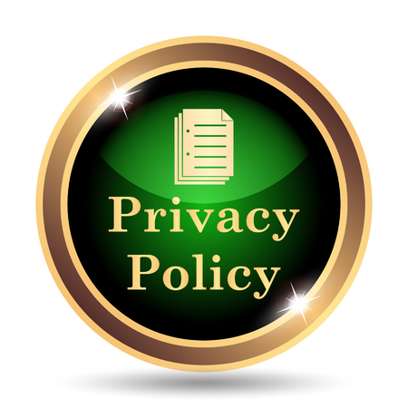 term and conditions: Privacy policy icon. Internet button on white background. Stock Photo
