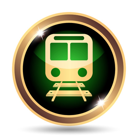 internet background: Train icon. Internet button on white background.