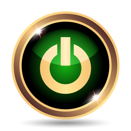 clean off: Power button icon. Internet button on white background.