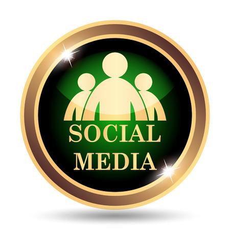 internet background: Social media icon. Internet button on white background.