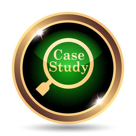 case study: Case study icon. Internet button on white background.