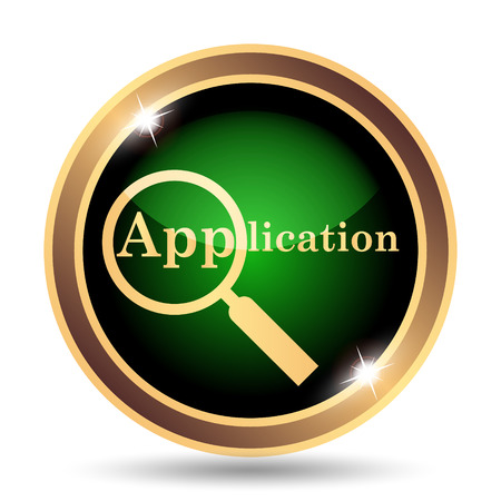 petition: Application icon. Internet button on white background.