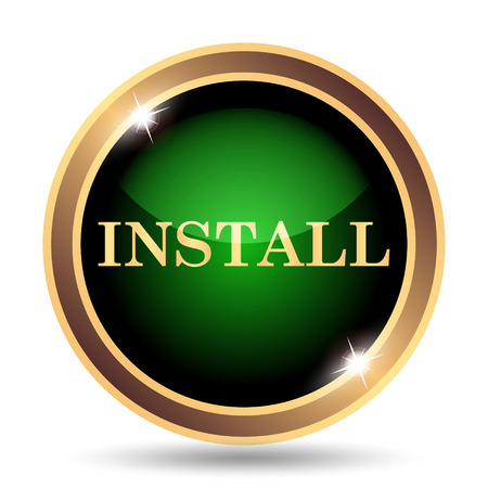 operative: Install icon. Internet button on white background.
