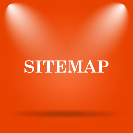 Sitemap icon. Internet button on orange background. Stock Photo