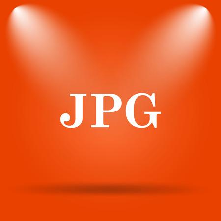 jpg: JPG icon. Internet button on orange background.