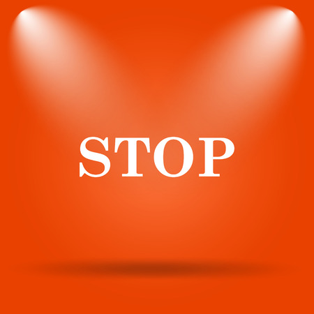 high end: Stop icon. Internet button on orange background.