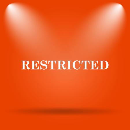 abstain: Restricted icon. Internet button on orange background.
