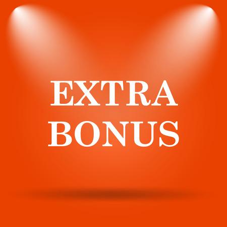 price gain: Extra bonus icon. Internet button on orange background.