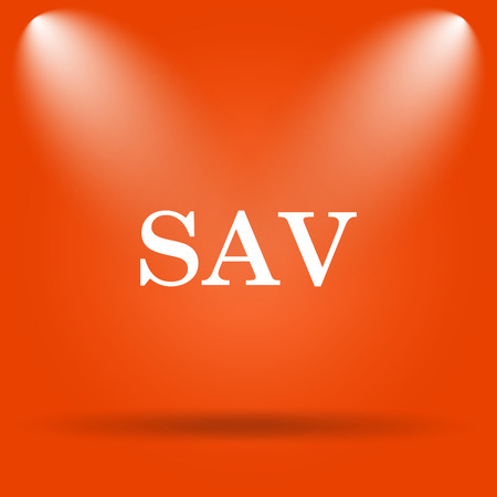 assessed: SAV icon. Internet button on orange background.