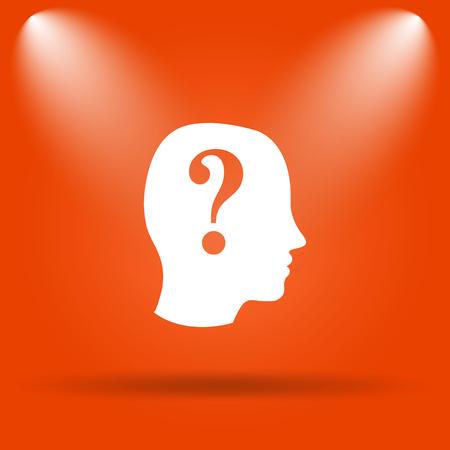 quiz: Quiz icon. Internet button on orange background.
