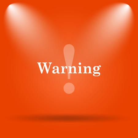 peril: Warning icon. Internet button on orange background.